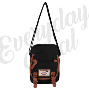 Everyday Deal 802 Mens Sling Messenger Crossbody Bag (Black) - 2