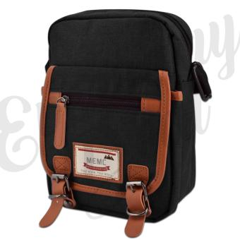 Everyday Deal 802 Mens Sling Messenger Crossbody Bag (Black)
