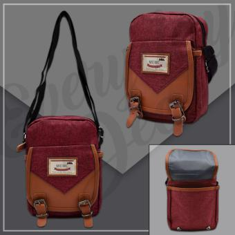 Everyday Deal 804 Mens Sling Messenger Crossbody Bag (Maroon)