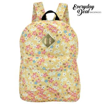 Everyday Deal Dex Unisex Casual School Backpack (Flowers/Yellow)