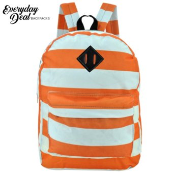 Everyday Deal Dex Unisex Casual School Backpack (Orange/White)
