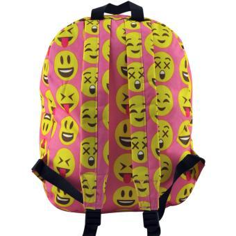 Everyday Deal Emoji Fashion Backpack School Casual Daypack Bag(Pink) - 5