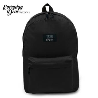 Everyday Deal Marion Unisex Fashion Backpack Casual Daypack Bag(Black)