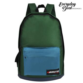 Everyday Deal Merletto Fashion School Backpack (Green)