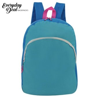 Everyday Deal Taylor Canvas Fashion Bag School Backpack (Sky Blue)