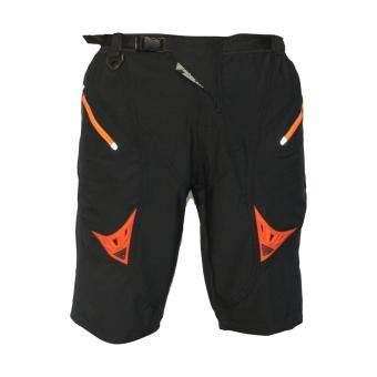 Extreme Assault Race 5 Multi Purpose Biking Short (Black w/ orangezipper)