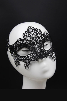 Eye Mask Lace Venetian Masquerade Ball (Black)