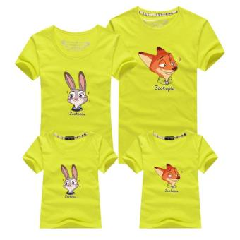 Family Look Summer Cotton T-Shirt Family Matching Clothes(Dad Wolf)- intl