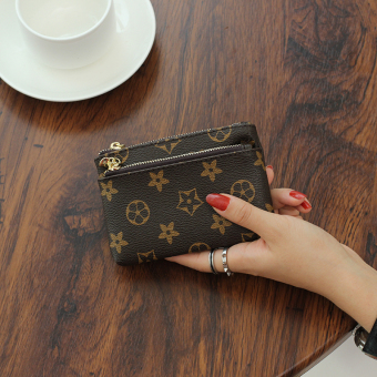 Famous European and American female mini small wallet New style handbag (PARK'S color flowers)