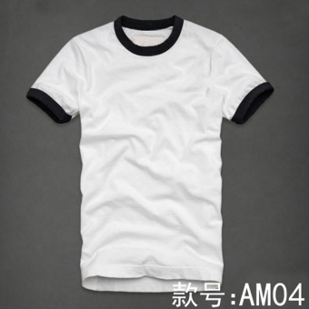 Famous solid color men's short sleeved Short sleeve base shirt (AM04)