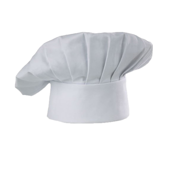 Fancyqube Flat Top Polyester Size-adjustable Chef Hat White