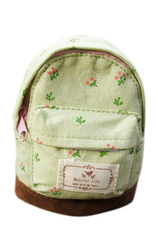 Fancyqube Mini Floral Print Backpack (Green) - picture 2