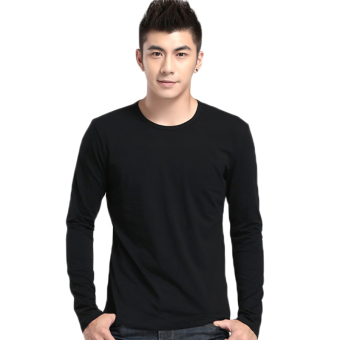 Fancyqube Neck long Sleeved T-shirt Black Price Philippines