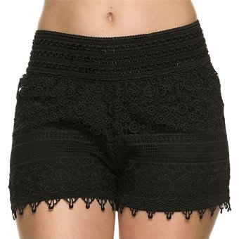 Fancyqube Women Crochet Lace Shorts Black Price Philippines