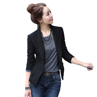 Fancyqube Women Slim Full Sleeve Small Suit Lapel Collar Office Jacket - intl Price Philippines