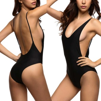 Fangfang Sexy one piece swimsuit Backless swim suit for womenswimwear low cut back monokini swimsuit S - intl