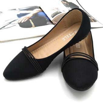 Fantasy Mna Ladies Flat Doll Shoes With Garter Strap Design 917-17 (black) Price Philippines