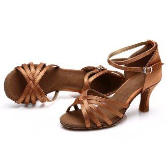 Fashion 213 woman dance shoes latin shoes ballroom dance tangoshoes (dark skin color) (Intl) - 2