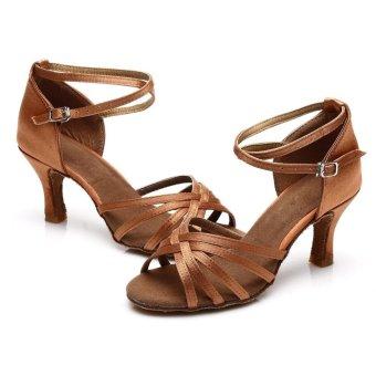 Fashion 213 woman dance shoes latin shoes ballroom dance tangoshoes (dark skin color) (Intl) - 3