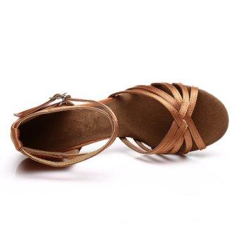 Fashion 213 woman dance shoes latin shoes ballroom dance tangoshoes (dark skin color) (Intl) - 5