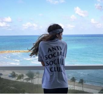 Fashion Anti Social Social Club Hip Hop Couple T-shirts Men Women Youth Tops Tees -intl - 4