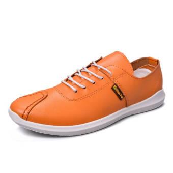Fashion Autumn New Lacing Loafers (Orange)