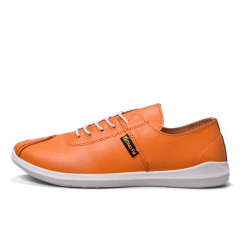 Fashion Autumn New Lacing Loafers (Orange) - picture 2