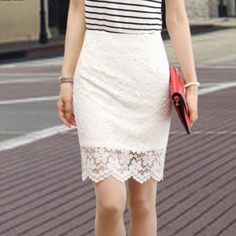 Fashion bag black skirt lace skirt (BENSE.O white)