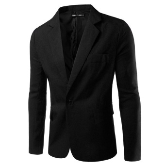 FASHION black NEW Mens Fashion Brand Blazer British's Style casualSlim Fit suit jacket male Blazers men coat Terno Masculino PlusSize M-3XL - intl