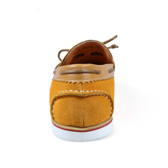 Fashion Bow-knot Leather Loafers (Yellow) - picture 2