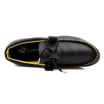 Fashion bow-knot Men Loafers - Black - picture 4