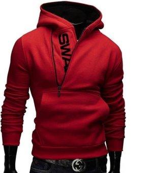 Fashion Brand Hoodies Men Sweatshirt Male Zipper Hooded Jacket Casual Sportswear Moleton Masculino Assassins Creed Outwear (Black&Blue) - intl - 5