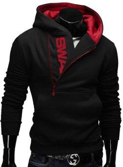 Fashion Brand Hoodies Men Sweatshirt Male Zipper Hooded Jacket Casual Sportswear Moleton Masculino Assassins Creed Outwear (Black&Blue) - intl - 4