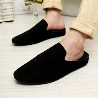 Fashion breathable British Korean half slippers casual shoes male shoes Price Philippines