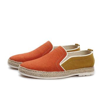 Fashion Canvas Leisure Men Driving Shoes - Orange - picture 2