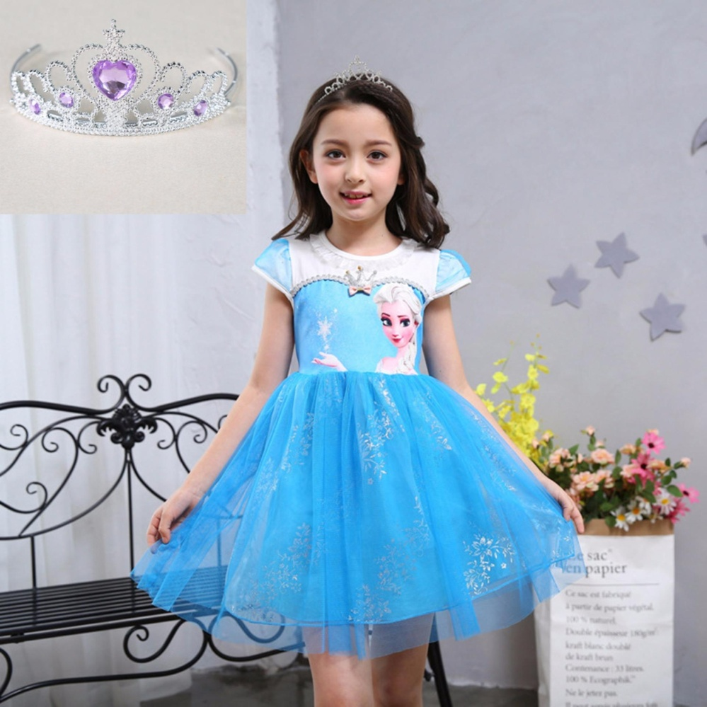 Philippines | Fashion Custom Anna Elsa Girl Dresses Princess Dress ...