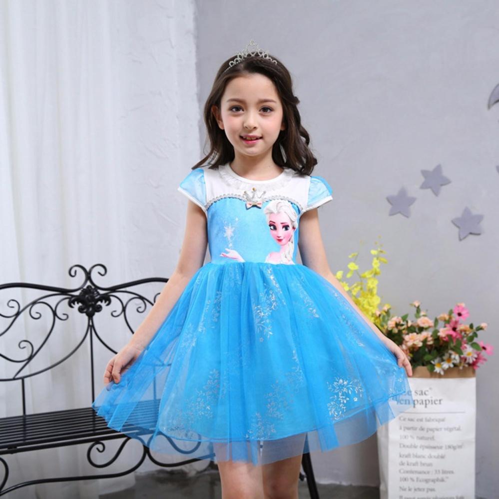Philippines | Fashion Custom Anna Elsa Girl Dresses Princess Dress ...