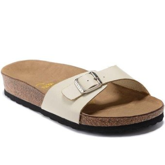 Fashion For Birkenstock Madrid Flat Slippers Women (Beige) - intl