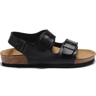 Fashion For Birkenstock Milano Soft Footbed Flat Sandals Women(Black) - intl Price Philippines
