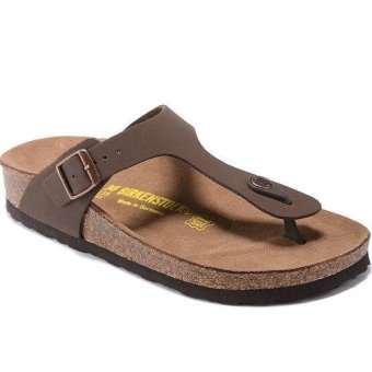 Fashion For Birkenstock Ramses Flat Birko-Flor Flip Flop Men(Brown) - intl