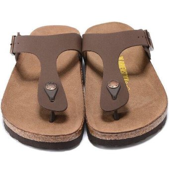 Fashion For Birkenstock Ramses Flat Birko-Flor Flip Flop Men(Brown) - intl - 4