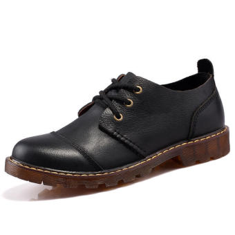 Fashion Formal Durable Leather Shoes (Black)