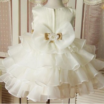 Fashion Kids Clothing Sequin Elegant Flower Girls Party Princess Wedding Tutu Layer Dress - intl - 4