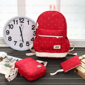 Fashion Korea 3 in 1 backpack A002 (Red)