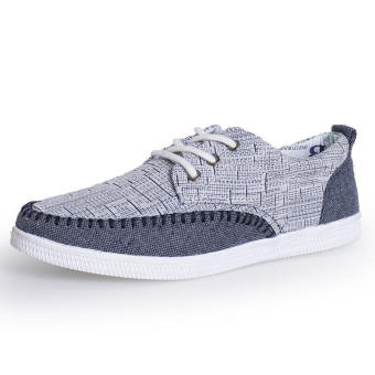 Fashion Lace-Ups Flat Shoes-Grey
