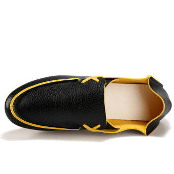 Fashion Leather Flat Loafers (Black) - picture 2