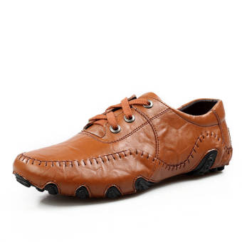 Fashion Leisure Leather Shoes (Light Brown)