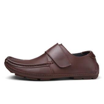 Fashion Men Flat Loafers - Dark Brown - picture 2