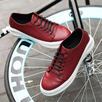 Fashion Men Lace-Ups Flat Shoes – Red - picture 2