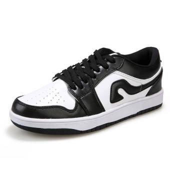 Fashion Men Sport Low Cut Skater Shoes-White